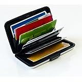 Kreditkartenetui Alu rot für bis zu 12 Karten von MaxBox, RFID Kreditkarten-Schutz-Etui, EC Karten Box, Kreditkartenhalter Metall für sichere Aufbewahrung