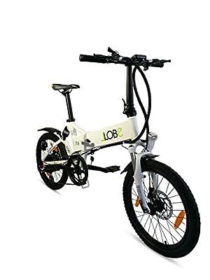 Alu Elektro Faltrad 20 Zoll, LLobe City II weiß, 7 Gang Shimano-Schaltung