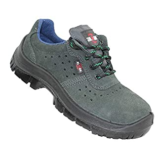 Almar S1P SRC Safety Shoes Work Shoes Professional Shoes Shallow B-Ware, Size:48 EU Green