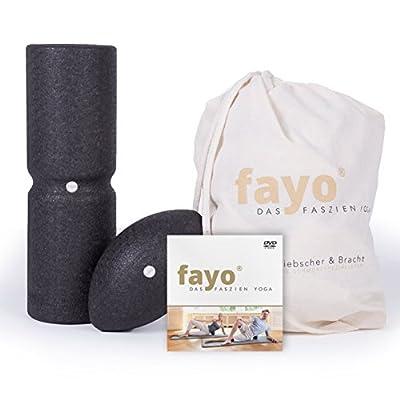 Liebscher & Bracht FAYO Faszienrolle mit Umlaufrille - Faszienball - Faszeinset für Yoga, Training & Selbstmassage