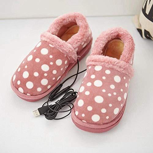 Scaldapiedi riscaldato pantofola riscaldante elettrica staccabile usb scarpe peluche riscaldate calde per interni domestici per mantenere, scarpe calde lavabili usb per inverno freddo