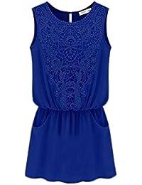 Minetom 2014 neue heiße Sommer Mode gemütliche Frauen Kleidung elegant  Sommer sexy Weste Blumen aushöhlen Spitze 9503204693