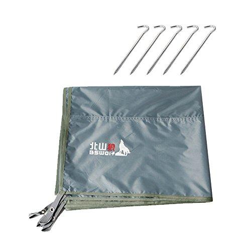 Coco tenda da campeggio per esterni tappetino per tappeti impermeabili oxford tappetino per campeggio tappetino per moquette impermeabile 200 * 200cm ( colore : grigio , dimensioni : upgrade section+5nail )
