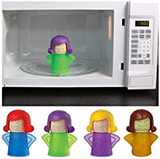 ClothsfabLAngry-Mama Microwave Oven Steam Cleaner Easily Cleans The Crud in Minutes. Angry Mama Steam Cleans and Disinfects with Vinegar and Water for Home or Office Kitchens