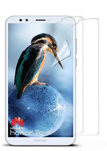 moex 2X Huawei Honor 7C | Schutzfolie Klar Display Schutz [Crystal-Clear] Screen Protector Bildschirm Handy-Folie Dünn Displayschutz-Folie für Huawei Honor 7C Displayfolie