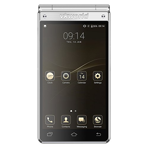 c1ad2a36dd5 VKworld Smartphone T2 Plus Flip Smartphone mit Dual SIM Dual Standby 13MP +  5MP Kamera