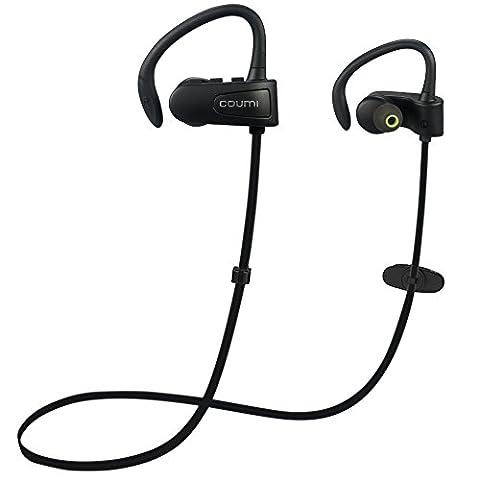 Coumi Bluetooth Kopfhörer Bluetooth 4.1 Sportkopfhörer Stereo In Ear Kopfhörer Sport Schweißabweisend BT Kabellos Ohrhörer mit Mikrofon und AptX Stereo Headset Wireless Kopfhoerer für Handy Smartphone Tablet iPad iPhone 7 6 6S 6 Plus SE Samsung Galaxy Huawei P8 P9 Mate