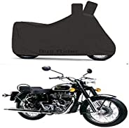 Bull Rider Two Wheeler Cover for Royal Enfield Bullet 350 (Black)