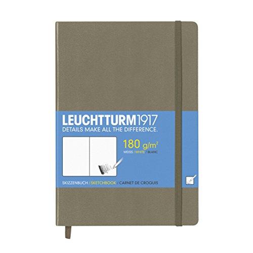 Leuchtturm1917 344665 Skizzenbuch Medium (A5, mit reinweißem, extra starkem 180 g/m² Papier, 96...