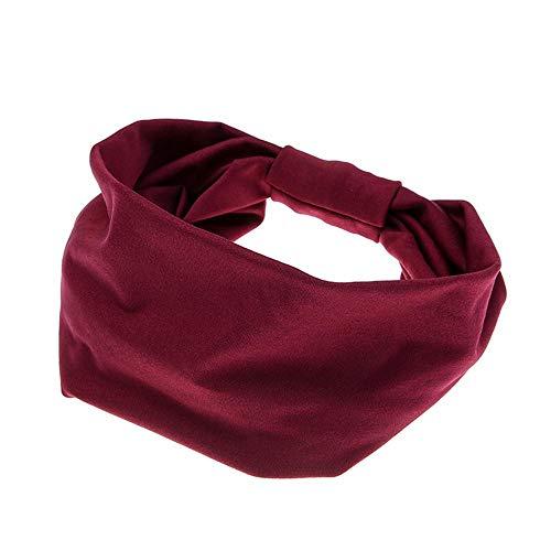 Paisley-snap (COZOCO 2019 Einfaches und nützliches Stirnband Frauen-Haar-Ball-Stirnband-elastisches handgemachtes Bindungs-Entwurfs-Haarband Weinrot Freie Größe)