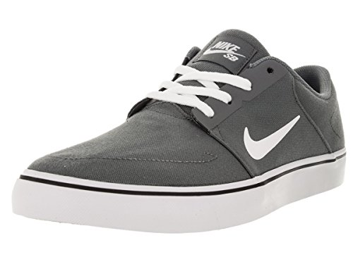 Nike Sb Portmore Cnvs, Scarpe da Skateboard Uomo Gris (Cool Grey / White-Black)