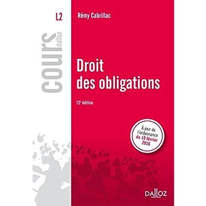 Droit des obligations - 12e éd.
