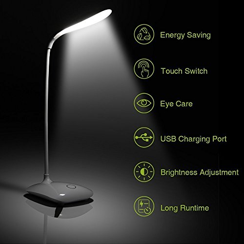 House Of Quirk Touch Control Led Table Lamp Study Lamp...