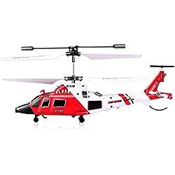 HoneybeeLY SYMA S111G - Helicóptero teledirigido inalámbrico de 2,4 GHz con luz LED, 3,5 Canales, 3 Canales, Radio RC, helicóptero, RC, Drone inastillable, Juguetes para niños y Principiantes
