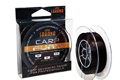 Sakana Angelschnur C.A.R.P. Fury Karpfenschnur schnell sinkend Feeder 0,275-0,37 (600m / 0,30mm / 20kg)