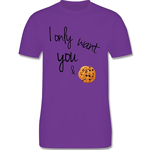 Statement Shirts - I only want you and cookies - Herren Premium T-Shirt Lila