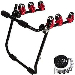 WOLTU Porte-Vélo de Voiture Supports de bicyclettes Pliable arrière Voiture à 3 Roues FZ1132