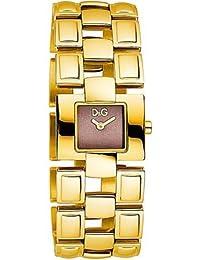 D&G Dolce&Gabbana-Damen-Armbanduhr QUOTES 2H BRC BROWN DIAL IPG CASE DW0475