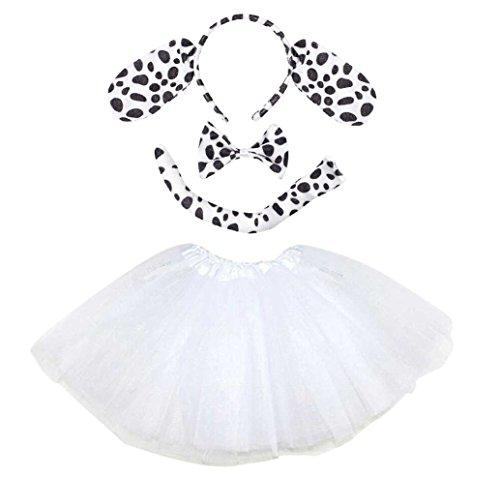 Unbekannt Dalmatiner Kinder oder Damen Kostüm - Dalmatian Tutu Costume - vertrieb durch ABAV (Komplett Set Damen) (Dalmatiner Kostüm Kostüm)