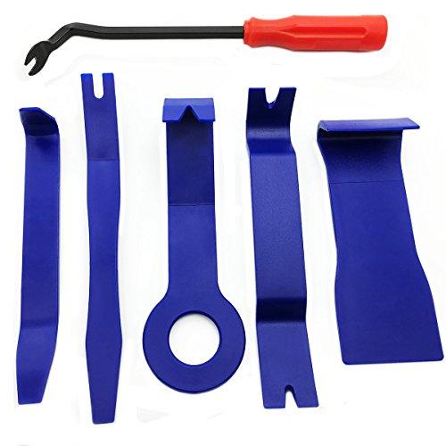 Zierleistenkeile-Set,ApoGo 6-teilig Türverkleidungs Lösewerkzeug Demontage Auto Türverkleidung und Platten - verschiedene Formen -