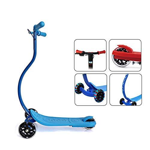 Vuffuw Tretroller, gewölbter Antikollisionsschutz, 3-Rad-Tretroller mit blinkenden PU-Rädern, Geschenke für Kleinkinder ab 3 Jahren, Unterstützung 50 kg (220 lbs) - Fuß-glider