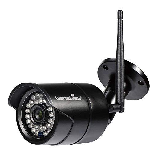 Wansview Caméra IP Extérieur,Caméra de Sécurité 1080P sans Fil, Etanche IP66 / Vision Nocturne W2...