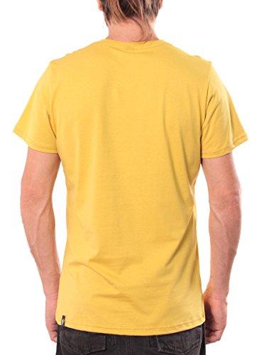Herren T-Shirt mit Rettet die Pandas Aufdruck - handgefertigt durch Siebdruck auf 100% Baumwolle - Street Habit Senfgelb
