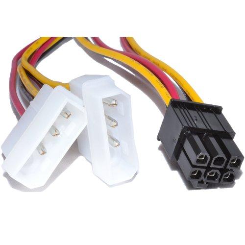 TrueWay - Cable adaptador PCI Express 6 pines 2 x