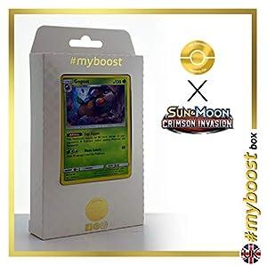 Skiddo 11/111 Holo - #myboost X Sun & Moon 4 Crimson Invasion - Box de 10 Cartas Pokémon Inglesas