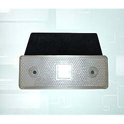 1x 12V Marker Side bianco trasparente LED luce rimorchio Van camper rimorchio 12V
