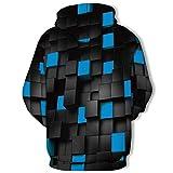 Sweat-Shirt à Capuche Homme,DaySing Automne Printemps Mode 3D Impression à Manches Longues Sweatshirt Tops Vertiges ColoréS De Vortex 3D éPaississement Sport Plus Velours Pull Hommes