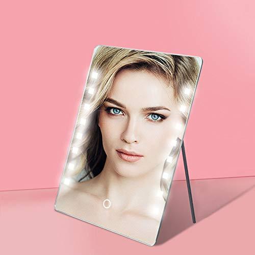 Espejo de Maquillaje con Luz Espejo De Maquillaje Inteligente LED Gran Lámpara 16 Espejo De Escritorio...