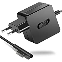 CYD 36W 12V 2.58a Power de portátil de fuente para Microsoft Surface Pro 3Pro 4Pro 5Windows i5i72017Model 1625, 5.25Ft (1.6m) Ordenador Portatil de AC de cable adaptador