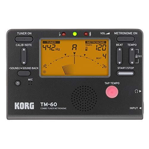 TM-60 BK Combo Tuner Metronome (Korg Stimmgerät Metronom)