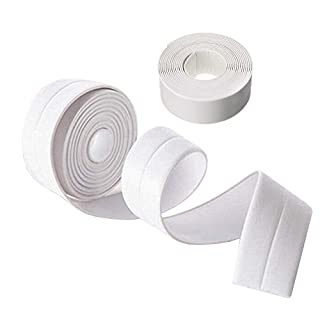 KaLaiXing brand Tub And Wall Caulk Strip. Kitchen Caulk Tape Bathroom Wall Sealing Tape Waterproof Self-Adhesive Decorative Trim--white