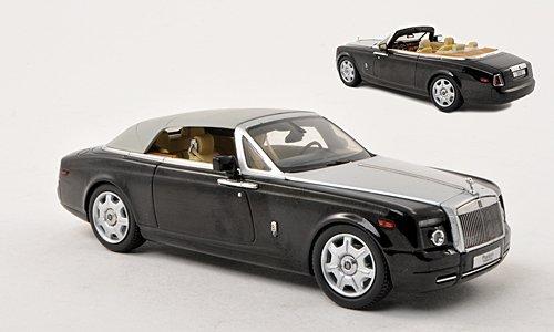 rolls-royce-phantom-drophead-coupe-schwarz-silber-lhd-modellauto-fertigmodell-kyosho-143