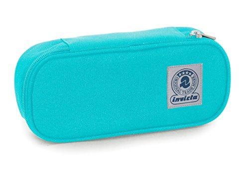 Bustina round plus invicta , benin , azzurro , scomparto attrezzato per penne, round plus benin, blu, poliestere
