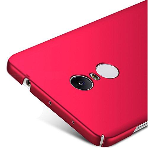 Xiaomi Redmi Note 4X Hülle, MSVII® Sehr Dünn Hülle Schutzhülle Case Und Displayschutzfolie für Xiaomi Redmi Note 4X (Nicht mit Redmi Note 4 kompatibel) - Blau JY00218 Rot