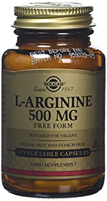 Solgar L-Arginine 500 mg Vegetable Capsules - 50 Capsules