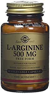 Solgar Amino Arginina 500 Integratore Alimentare Rinvigorente - 50 Capsule