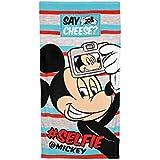 Mickey - Toalla de playa para niños algodón 100% 70 x 140 cm