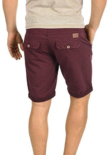 BLEND Claudio Herren Chino-Shorts kurze Hose Business-Shorts aus 100% Baumwolle Wine Red (73812)