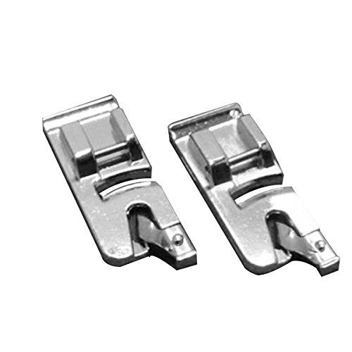ULTNICE 2pcs Prensatelas de Dobladillo Enrollado Pies de Prensatelas de Máquina de Costura de 6 mm y 4 mm