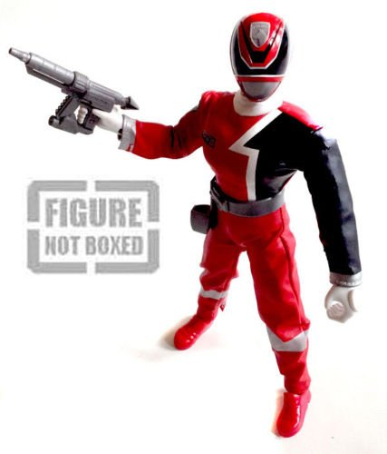 """Image of POWER RANGERS SPD Police RED RANGER poseable 12"""" figure with Sound [not boxed]"""