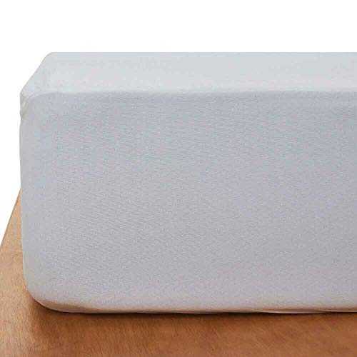 """Wakefit Water Proof Terry Cotton Mattress Protector - 78"""" x 60"""", Queen Size, White Image 3"""