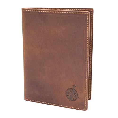 Leder Reisepass Etui Reiseportemonnaie - RFID Blocker Reisepasshülle für Frauen und Männer Echtes Leder | Leather Travel Wallet and Passport Holder (Wallet Braune Passport Leder)