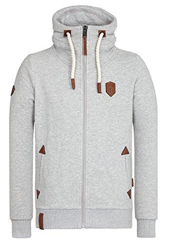 Naketano Male Zipped Jacket Ivic Grey Melange