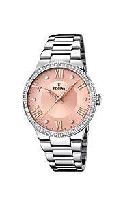 Festina MademoiselleF16719/3 Reloj de pulsera analógico para mujer, cuarzo y acero inoxidable de Festina