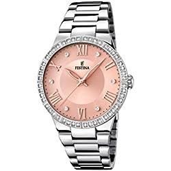 Festina MademoiselleF16719/3 Reloj de pulsera analógico para mujer, cuarzo y acero inoxidable