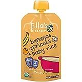 Ella's Kitchen, Bananes, Abricots + Riz pour bébé, 3,5 oz (99 g)
